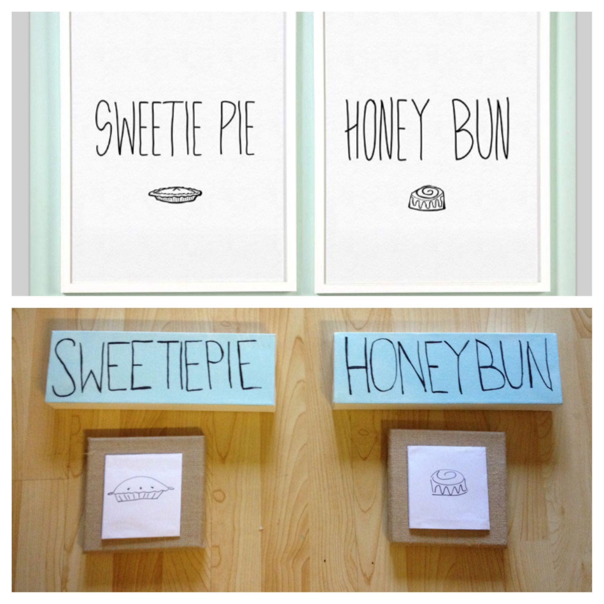For the bedroom #honeybun #sweetiepie