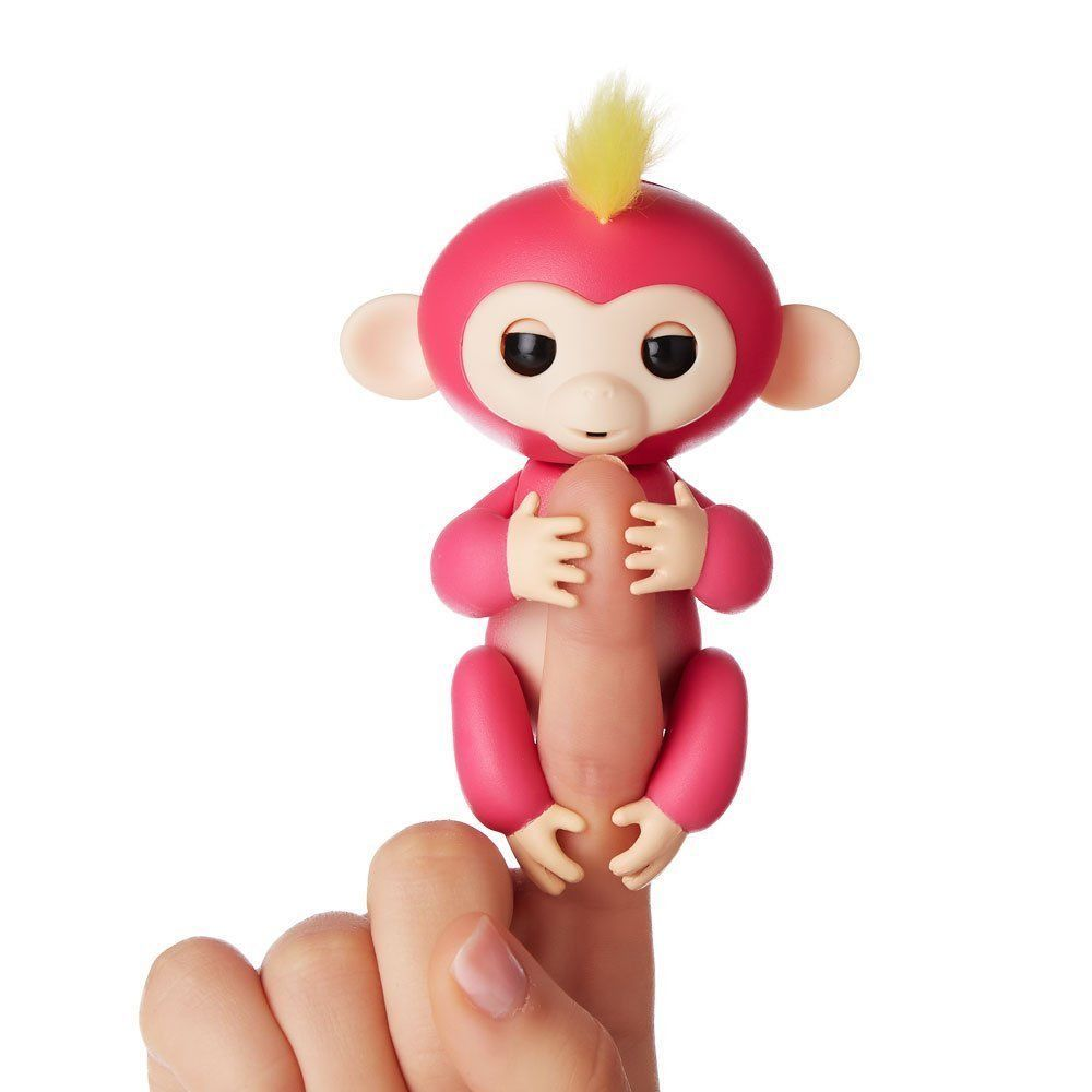 Fingerlings Interactive Baby Monkey Bella Pink With Yellow Hair