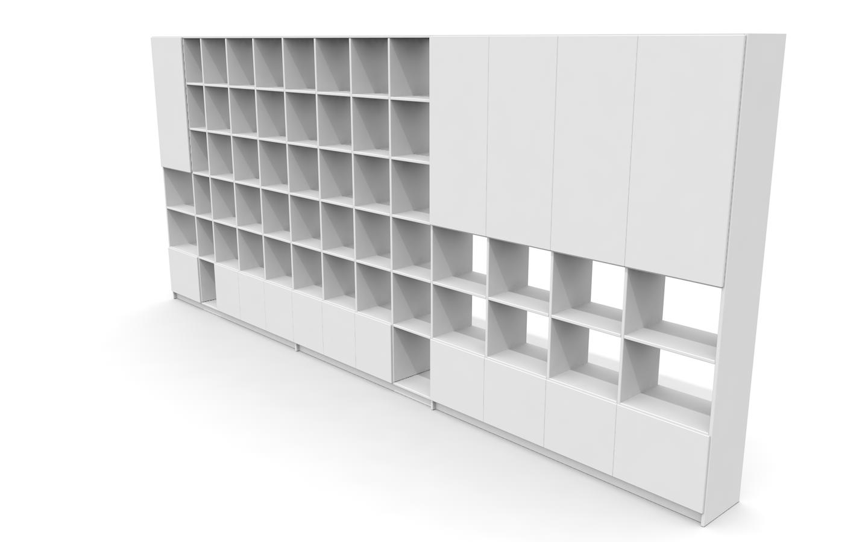 individuell gestaltetes b cherregal bibliothek nach ma von pickawood 3d modell f r eine. Black Bedroom Furniture Sets. Home Design Ideas