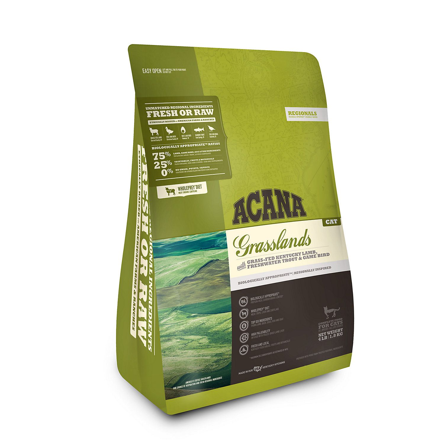 Acana Grasslands Dry Cat Food 4 Lbs Dry Dog Food Dry Cat Food