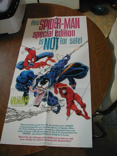 Spider Man 32 X 16 Trial Of Venom Promo Poster Spider Man 1992