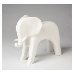 Elephant Figurine In White