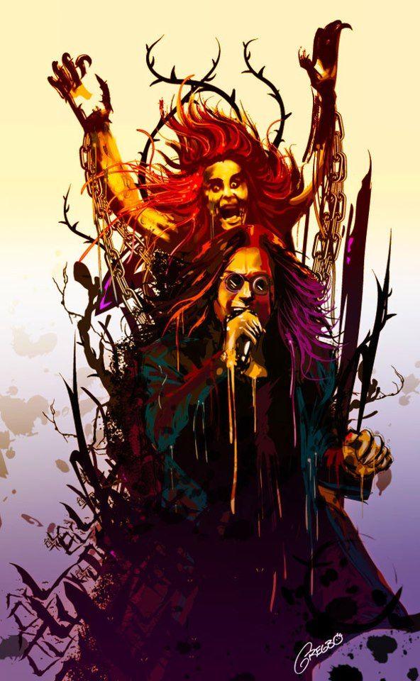 Ozzy Osbourne Music art, Rock n roll art, Music artwork