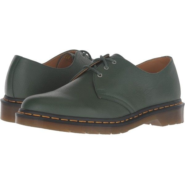 Dr Martens 1461 3 Eye Shoe Green Hug Me Lace Up Casual Shoes 58 Liked On Polyvore Featuring Slip Resistant Shoes Patent Leather Shoes Dr Martens Shoes