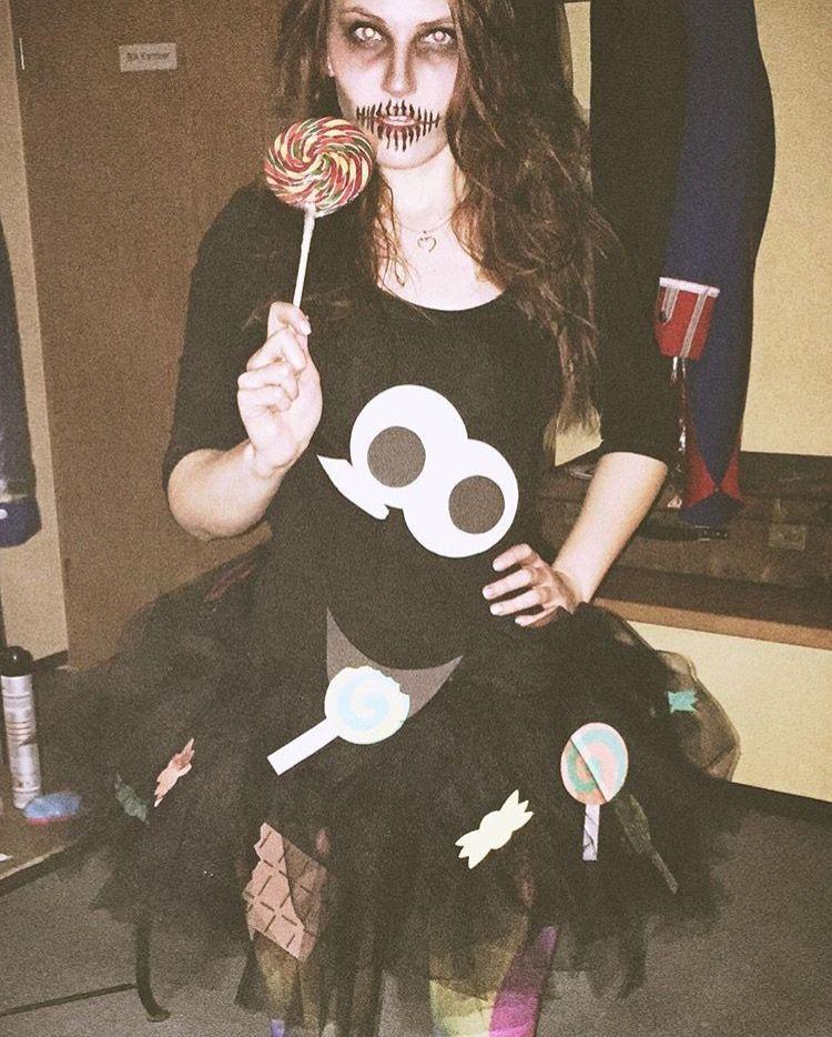 Ich habe Süßigkeiten zum fressen gerne! 🍭  #DIY #Kostüm #Fasching #SüßigkeitenMonster