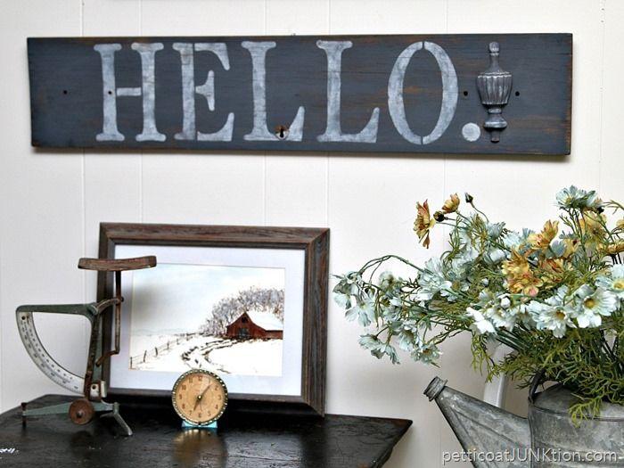 How To Stencil A Hello Diy Sign Diy Signs Diy Decor Projects Decor Tutorials