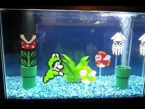 Super Mario Aquarium Super Mario Fishtank Fish Tank Aquarium Hama Art
