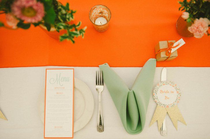 Pin for Later: All That Glitters Is Gold at This Springtime Bridal Shower  Source: Emily Blake Photography