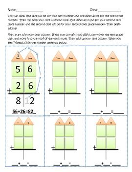 two digit adding with regrouping worksheets math. Black Bedroom Furniture Sets. Home Design Ideas