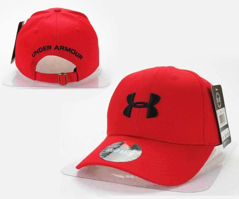 ce73b7f82b3 Mens   Womens Under Armour The UA 3D Embroidery Logo 6 Panel Strap Back  Baseball Adjustable Polo Cap - Red   Black