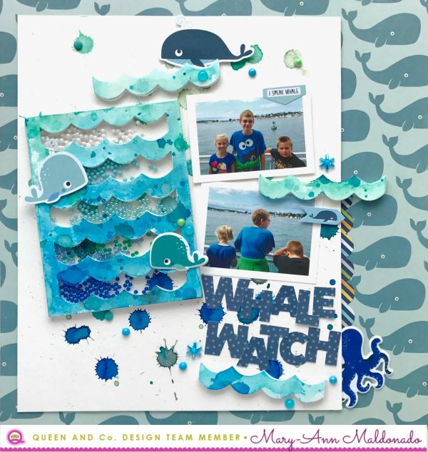 Page Challenge #43 - make a page with waves on it - extra entry if you make the shaker box