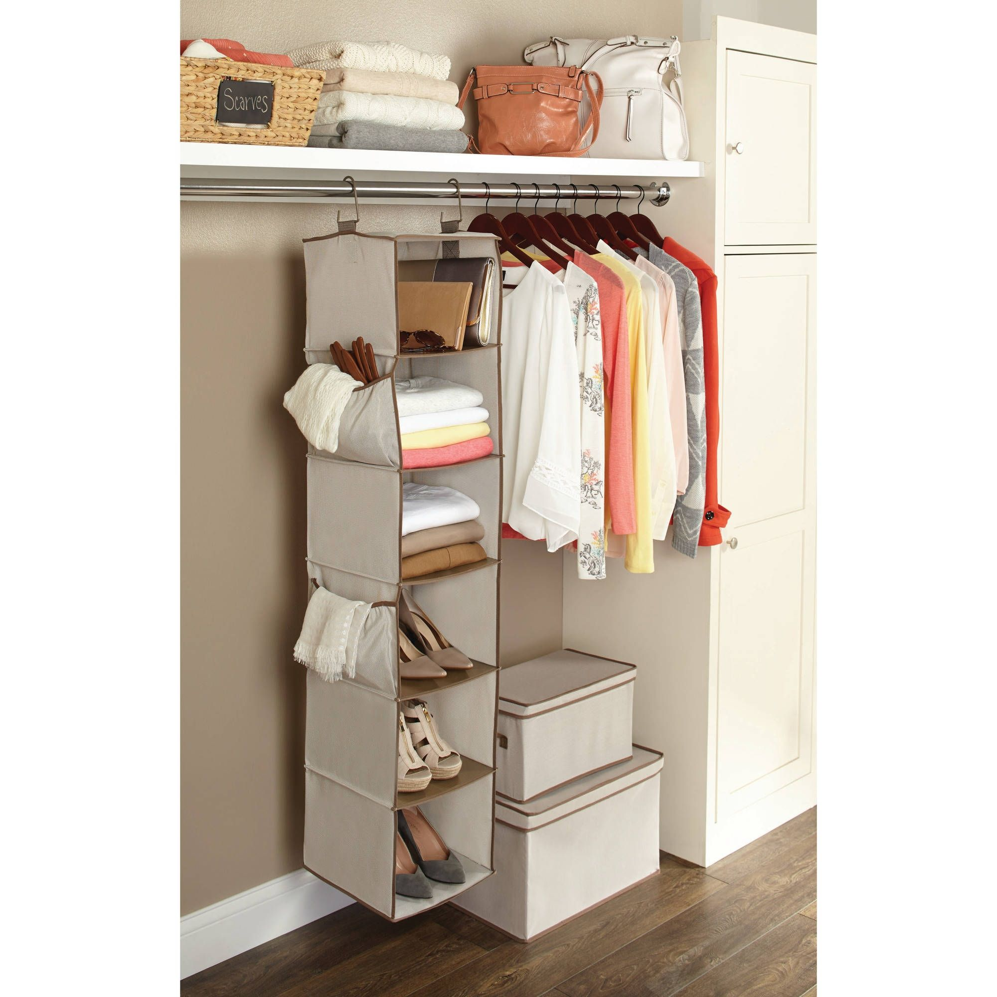 lovely shelf hanging double closet wardrobe hanger ideas organizer