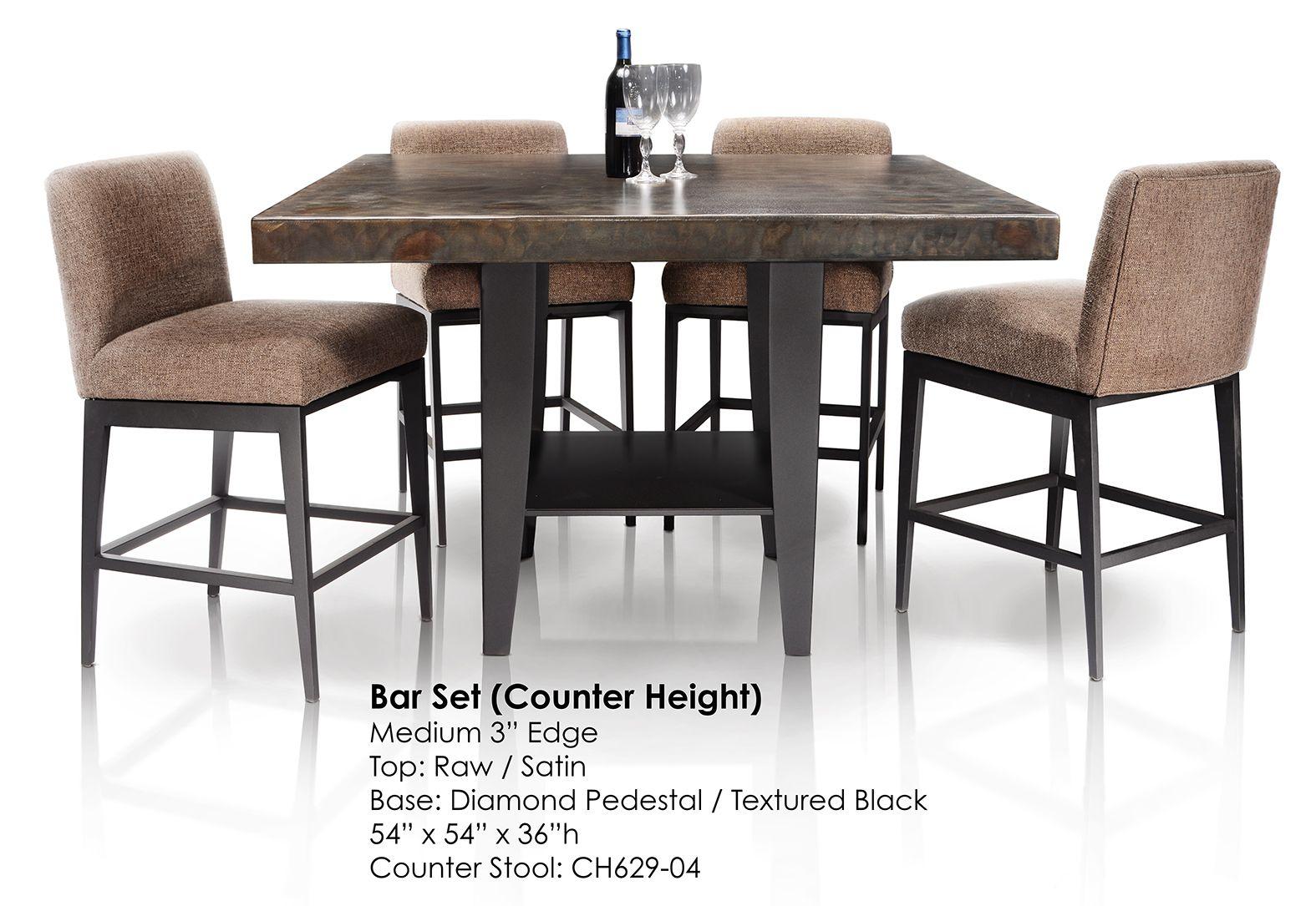 54 Metal Bar Table By Oios