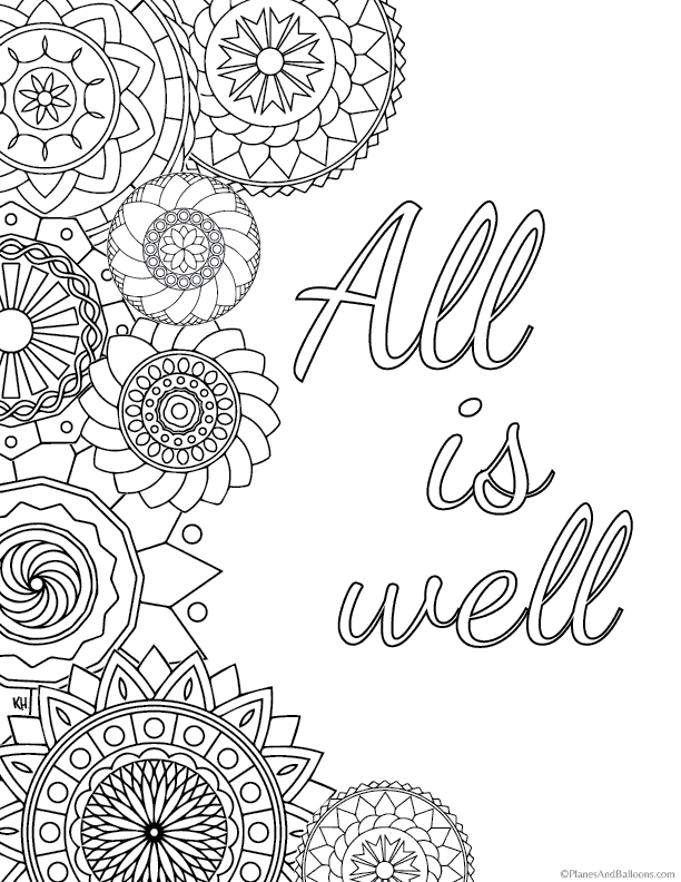 anti stress coloring pages Allerlei Quote coloring