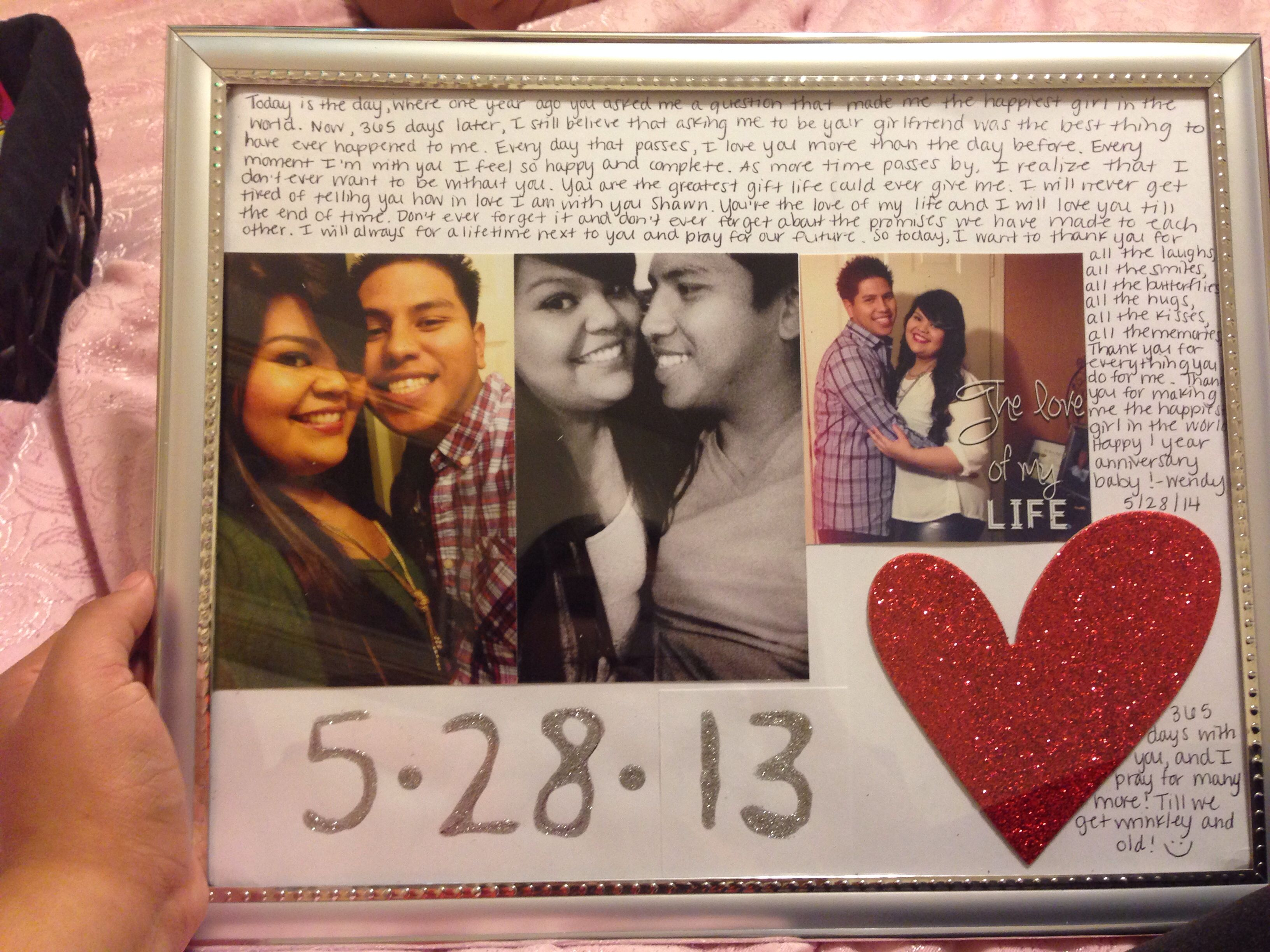 Gift For My Boyfriend For Our One Year Anniversary 5 28 13