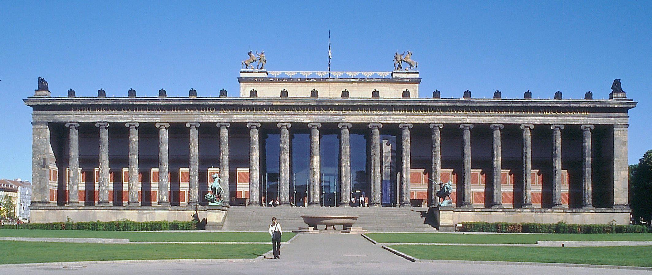 Karl friedrich schinkel altes museum berlin 1824 28 for Architecture berlin