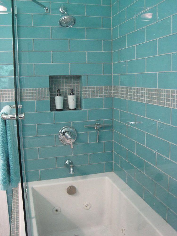 Large Aqua 4 X 12 Large Glass Subway Tile Shower Enclosure Https Www Subwaytileoutlet Com Gallery Aqua 4 22 X Shower Tile Aqua Bathroom Small Bathroom Tiles