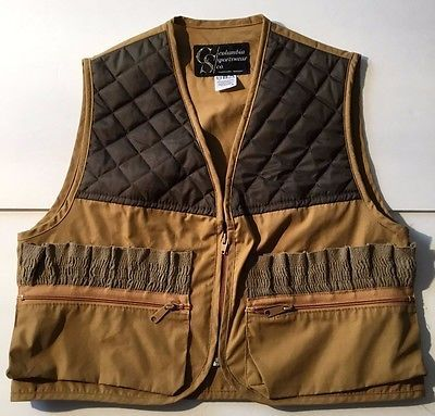 8d14e7caad4 Vintage Columbia Sportswear Shotgun Vest For Bird Hunting Size Small  Portland Or