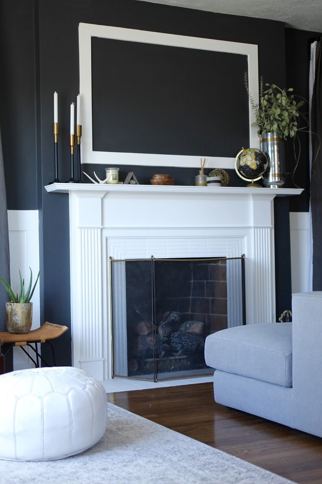 Charcoal Living Room Reveal | Paint colors | Living room ...