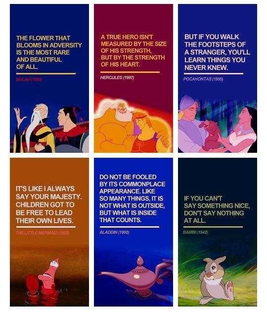 Disney Quotes Mulan Hercules Pocahontas The Little Mermaid Aladdin