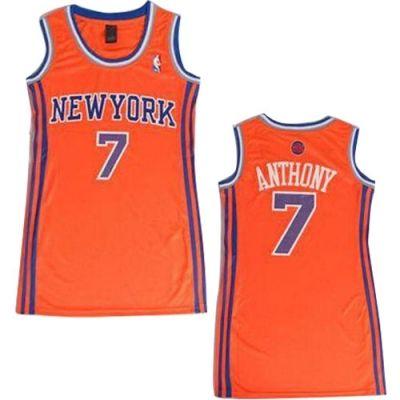 Carmelo Anthony Authentic In Orange Adidas NBA New York Knicks Dress  7 Women s  Jersey 3953dc5c97