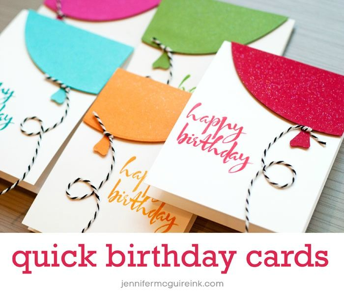 Quick Birthday Balloon Cards With Video