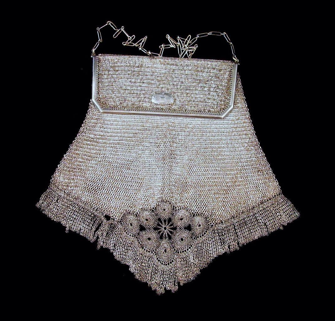 Whiting Davis Princess Mary Purse Venetian Fringe Fine Mesh Art Deco