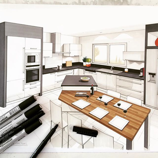 Draw Drawing Handmade Arch More Arch Sketch Kitchen