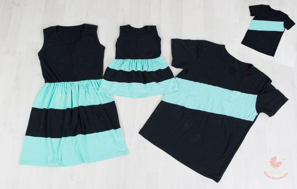 96c44ccc9f Anya-Lánya ruha - Apa-fia póló (fekete - menta) | kisbaba | Dresses ...