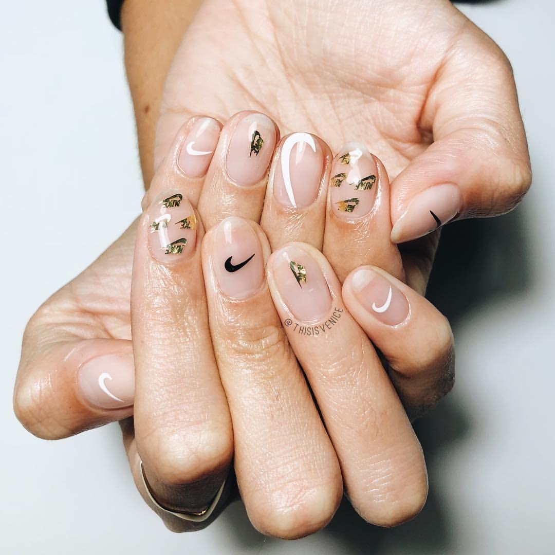 Scarlett You Got Pimped Thisisvenicenailart Pimpmynails Nailartparis Handpainted Plants Nike Nails Neon Orange Nails Nail Art