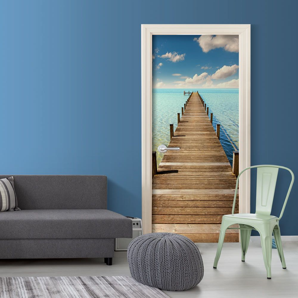 Pittura Resistente Ai Graffi fotomurale per porta - turquoise harbour (con immagini