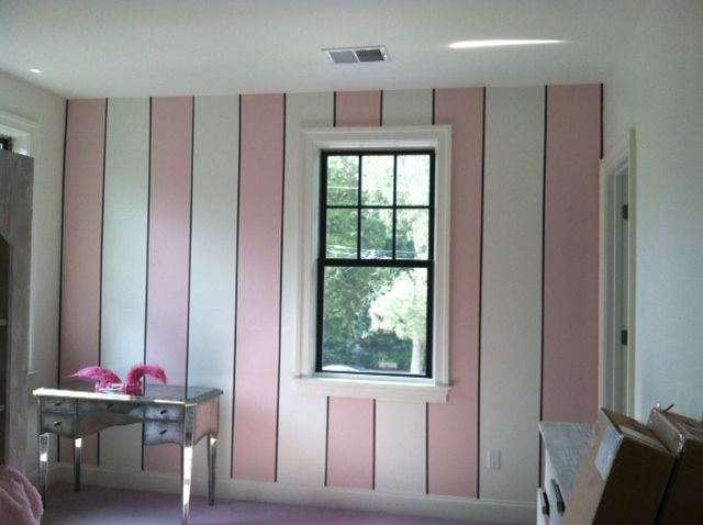 pink and gray striped wall - Google Search #graystripedwalls pink and gray striped wall - Google Search #graystripedwalls