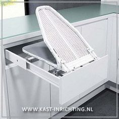 Lade In Kast.Inbouw Strijkplank In 2019 Laundry Room Design Laundry In