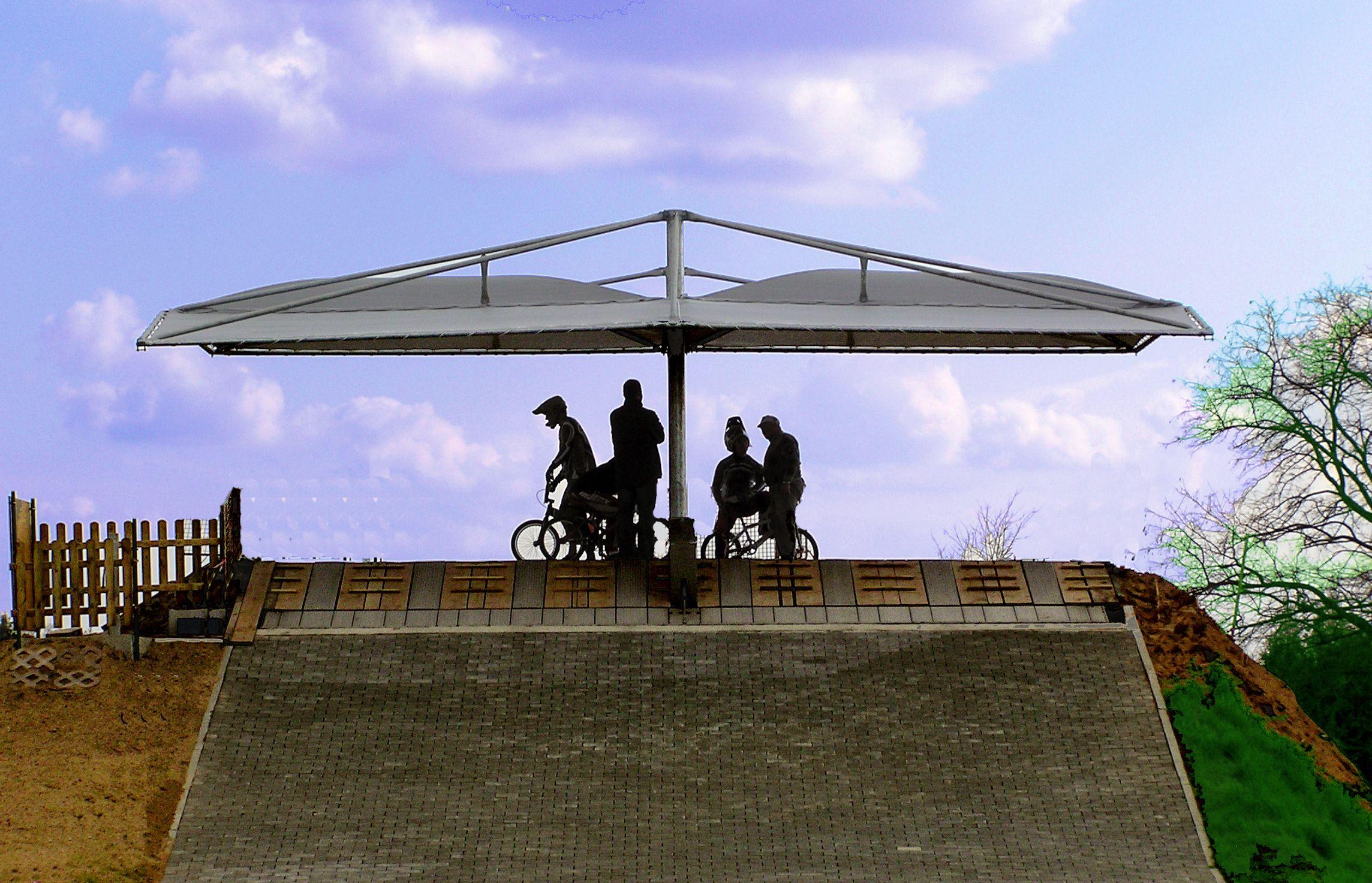 Doppelcarport BMX-Start #Carport #Überdachung #Schatten #BMX ...