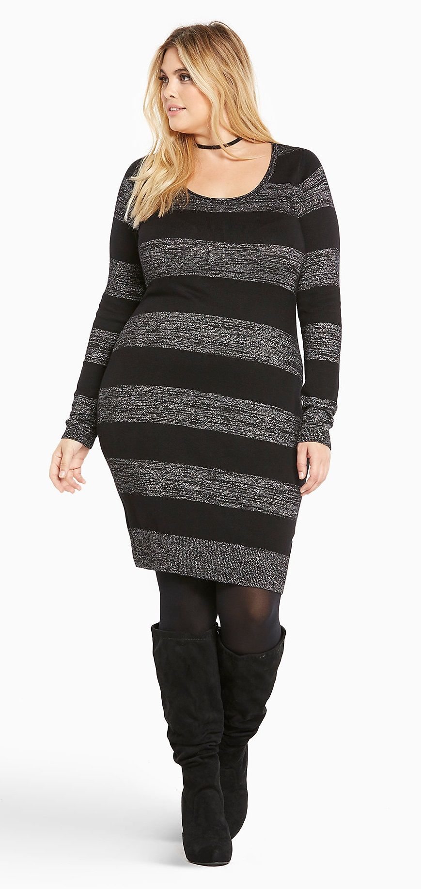 sweater dress grote maat