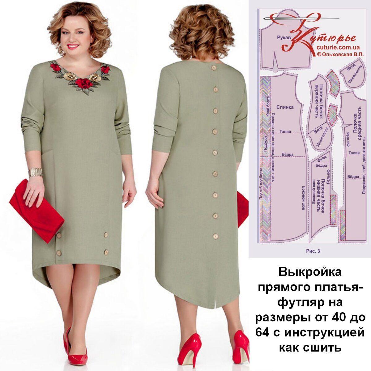 Photo of Выкройка больших размеров прямого платья футляр с инструкцией как сшить своими руками