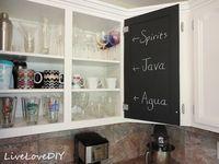 Chalkboard Paint Inside The Kitchen Cabinets  For The Home Captivating Paint Inside Kitchen Cabinets Design Ideas