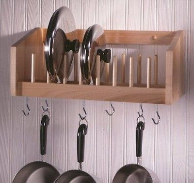Wall Mounted Pot Lid Racks Simple Design Kitchen Wall