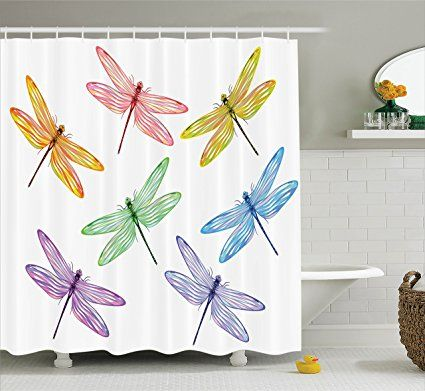 Amazon Com Ambesonne Country Decor Collection Dragonflies And