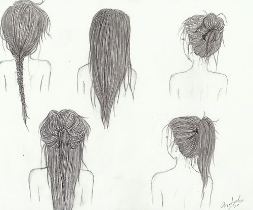 Almost Effortless Hairstyles How To Draw Hair Tumblr Drawings Drawings