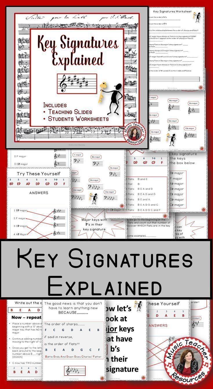 Workbooks www education com worksheets answer key : Music Theory: Keys and Key Signatures Explained   Music worksheets ...