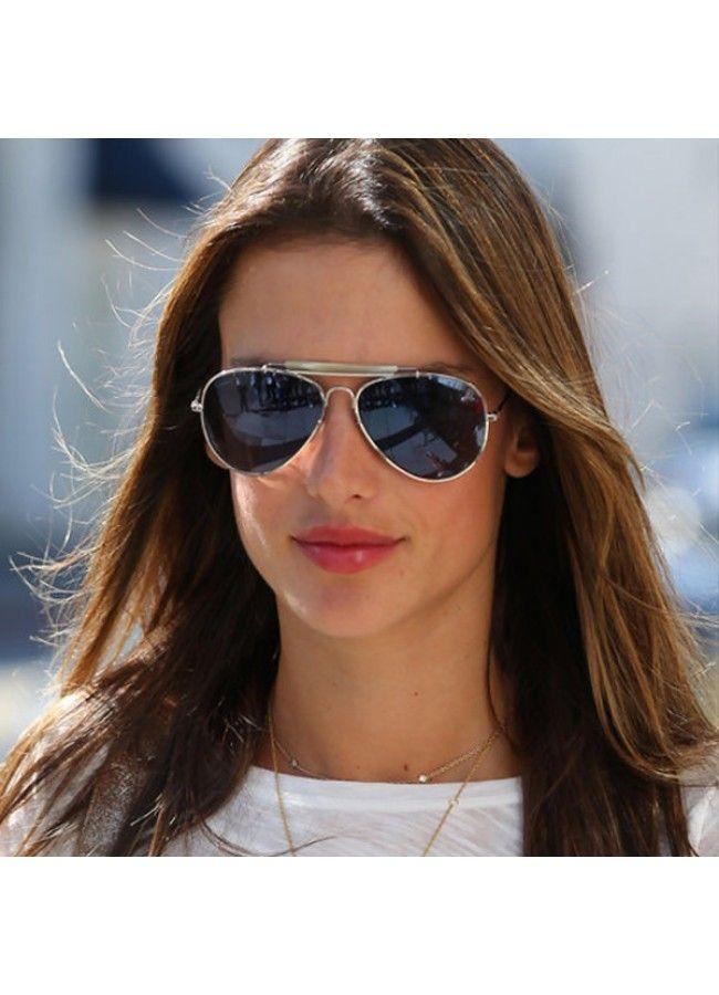 f0062e2c5e Alessandra Ambrosio Style Classic 56mm Light Mirror Aviator Sunglasses