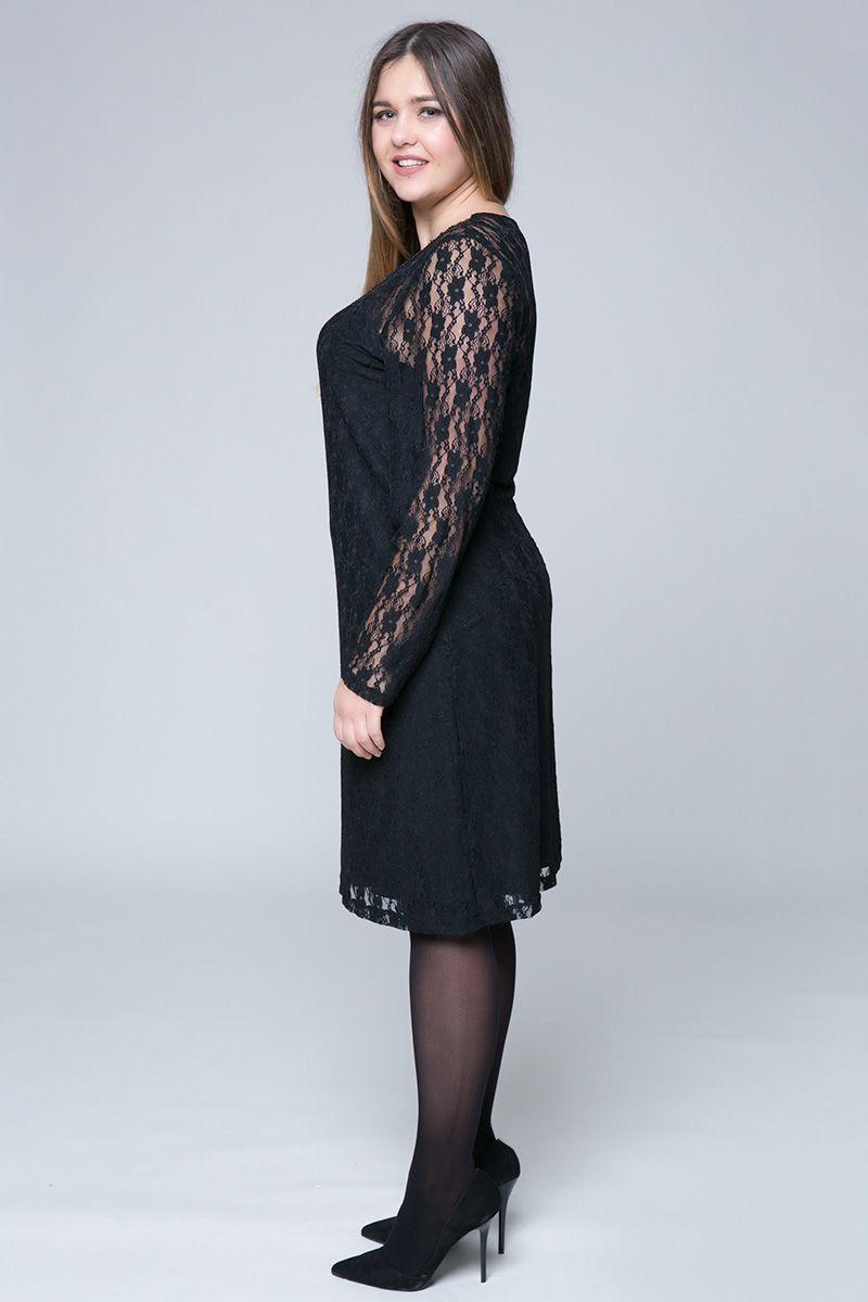 7ae43092cc7e Midi διπλό φόρεμα δαντέλας σε μαύρο χρώμα με χρυσή τρέσα