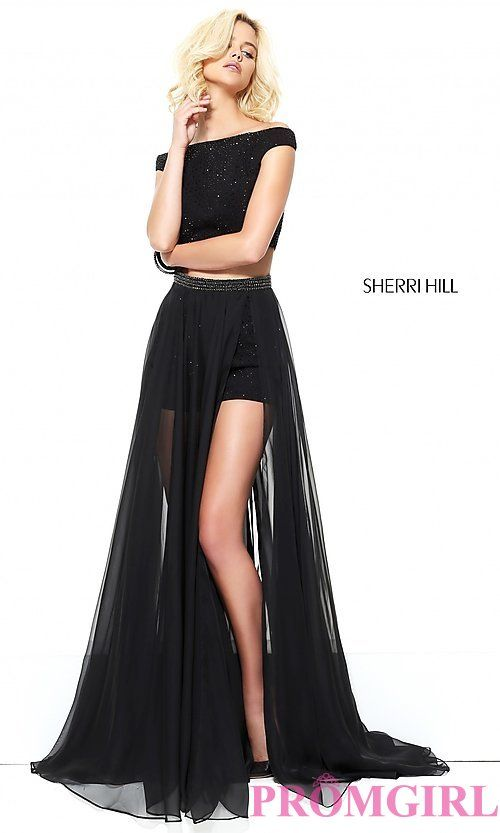 8df23a8df1d4 Off the Shoulder Romper with a Long Skirt