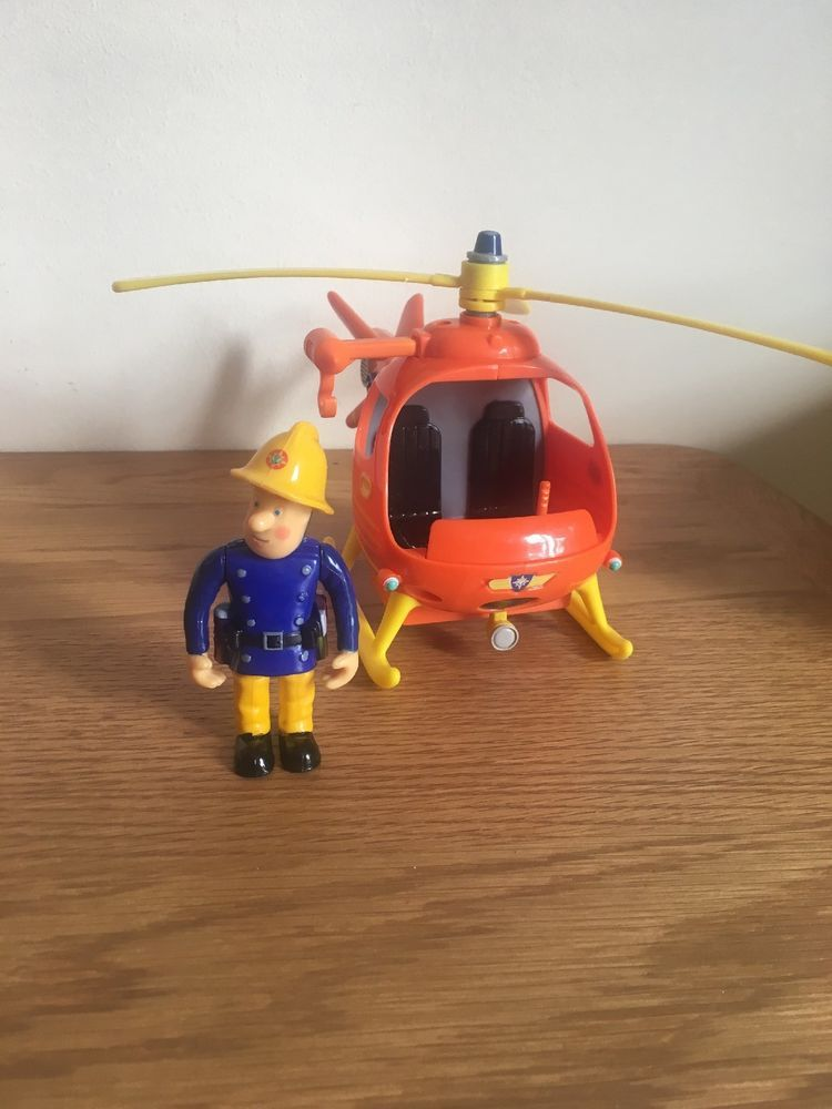 Fireman Sam Mountain Rescue Helicopter /& Tom articulated figure Toy Playset