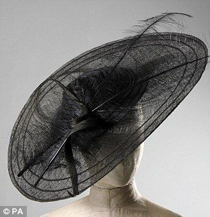 Sought after: Both hats are estimated to fetch between £1,000 and £1,500, though Kerry Taylor Auction house admits the final price could be much higher