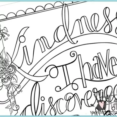 Free Coloring Page Kindness Is Everything Coloring Pages Coloring Book Pages Free Coloring Pages