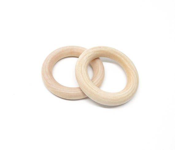 anneau bois brut non traite