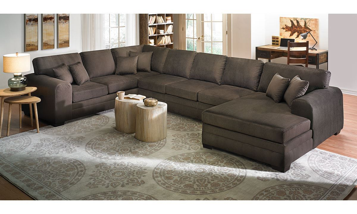 Picture of Sophia Oversized Chaise Sectional Sofa | Skyview Rd ...