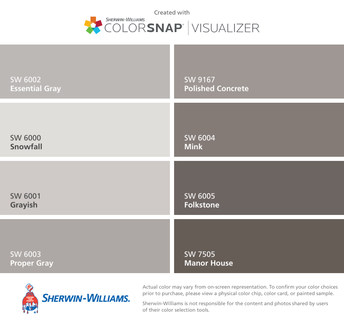 Sherwin Williams Mink Bathroom: I Found These Colors With ColorSnap® Visualizer For IPhone By Sherwin-Williams: Essential Gray